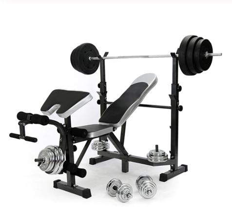 Fitness Weights Bench Multi Gym Dumbell - Súlyzó szett